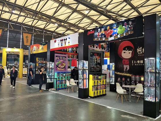 魔层展示柜|玩具展会便携式展台应用方案(上海时利玩具有限公司)