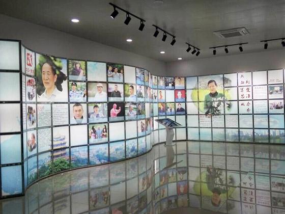T3弧形组合灯管背景案例(武汉元木堂广告有限公司)