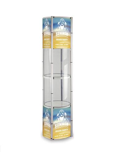 圆柱形折叠展柜