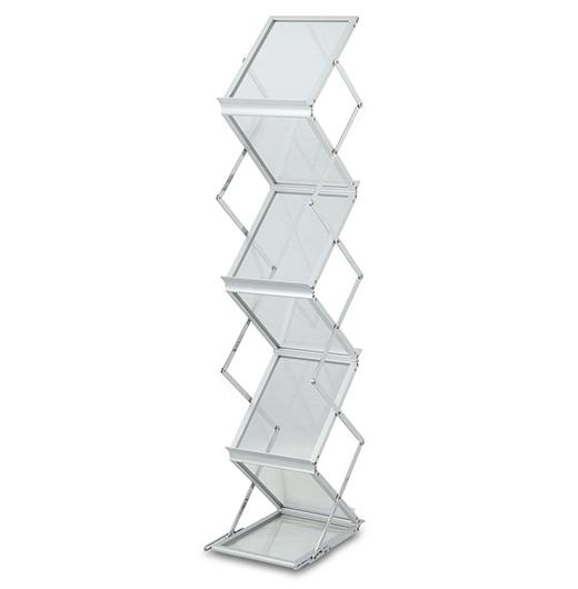 折叠资料架,铝合金资料架,梯状资料架,S型资料架